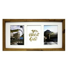 """Natural Salvage Chic 3-Opening Collage Frame By Studio Décor, 5"""" x 7"""""""