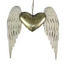 Heart with Angel Wings Wall Décor Accent By Studio Décor