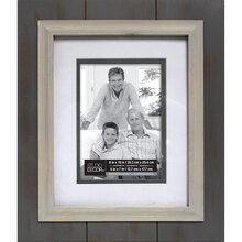 gray white expressions double mat frame by studio dcor - Double Picture Frame