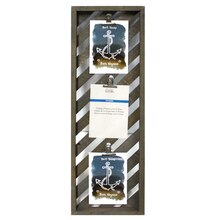 """Gray Catalina Collage Frame with Clips By Studio Decor, 7"""" x 23"""""""