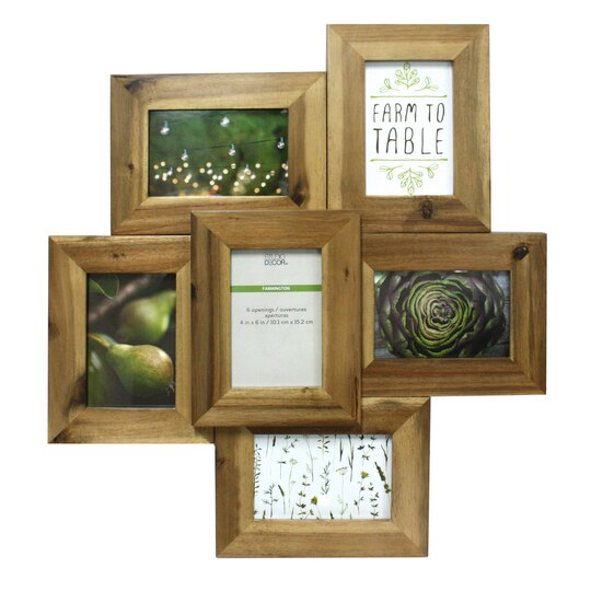 Find the Natural 6-Opening Collage Frame, 4\