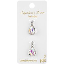 Signature Color Shop Clear & Silver AB Glass Charms By Bead Landing