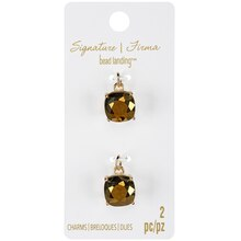 Signature Color Shop Gold Glass Charms By Bead Landing