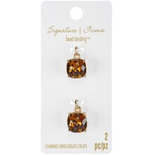Signature Color Shop Topaz & Gold Glass Charms By Bead Landing