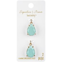 Signature Color Shop Mint & Gold Glass Charms By Bead Landing