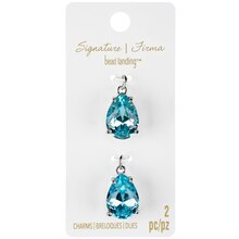 Signature Color Shop Turquoise & Silver Teardrop Charms By Bead Landing