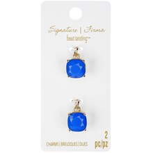 Signature Color Shop Blue Glass Charms By Bead Landing