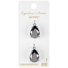 Signature Color Shop Silver Teardrop Charms By Bead Landing