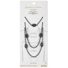 Signature Filigree Gunmetal Rope Chain Necklace By Bead Landing