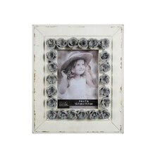 "White & Gray Expression Galvanized Flowers Frame By Studio Decor, 5"" x 7"""