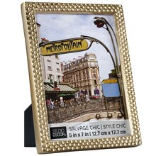 """Gold Salvage Chic Textured Frame By Studio Décor, 5"""" x 7"""""""
