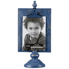 "Dark Blue Expressions Pedestal Frame with Clip By Studio Décor, 4"" x 6"""