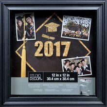"Black Pearl Graduation Collection Shadowbox By Studio Décor, 12"" x 12"""