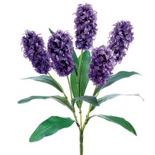 "18"" Hyacinth Bush, Purple"