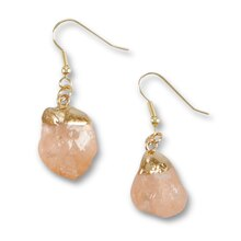 Bead Landing™ Peach Nugget Earrings, medium