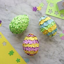 Paper Flower Eggs, medium