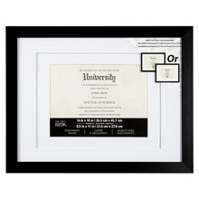 """Black Graduation Collection Double-Matted Document Frame By Studio Decor, 8.5"""" x 11"""""""