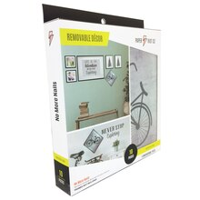 Paper Riot Co. Medium Removable Decor Kit, Bicycle Front