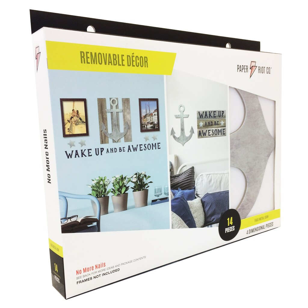 Wall stickers paper riot co large removable decor kit wake up be awesome front amipublicfo Gallery