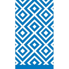 Geometric Blue Paper Guest Towels, 24ct