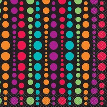 Retro Polka Dot Beverage Napkins, 24ct