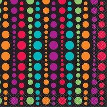 Retro Polka Dot Beverage Napkins, 24ct
