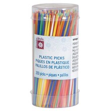 Plastic Toothpicks, Assorted 250ct