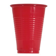 16oz Red Plastic Cups, 10ct