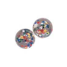 Clear Star Bouncy Ball Party Favors, 12ct