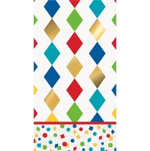 Foil Party Diamond Harlequin Paper Guest Towels, 16ct