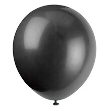 "12"" Latex Jet Black Balloons, 72ct"