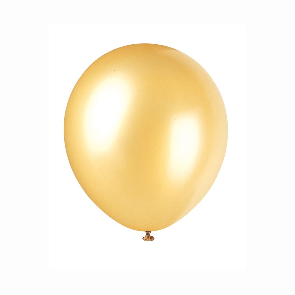 Latex gold pearlized balloons gold party decorations