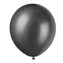 "12"" Latex Pearlized Shadow Black Balloons, 72ct"