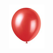 "12"" Latex Pearlized Frosted Red Balloons, 72ct"
