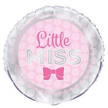 Foil Pink Bow Little Girl Balloon, 18""