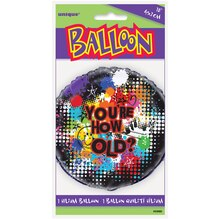 "Foil ""You're How Old"" Happy Birthday Balloon, 18"" Packaged"