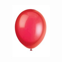 "12"" Latex Crystal Scarlet Red Balloons, 50ct"