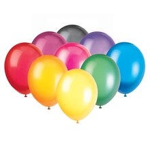 "12"" Latex Crystal Balloons, Assorted 50ct"