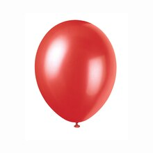 "12"" Latex Pearlized Flame Red Balloons, 50ct, medium"