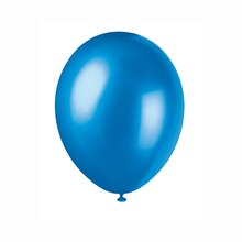 """12"""" Latex Pearlized Cosmic Blue Balloons, 50ct"""