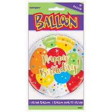 "Foil Glitzy Balloon Happy Birthday Balloon, 18"" Package"