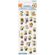 Puffy Despicable Me Minions Sticker Sheet