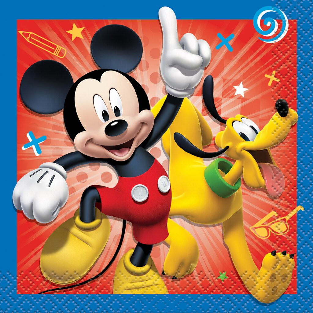 Mickey Mouse Drink Napkins   Mickey Mouse Party Supplies