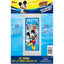Plastic Mickey Mouse Door Poster Packaged