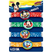 Mickey Mouse Rubber Bracelet Party Favors, 4ct