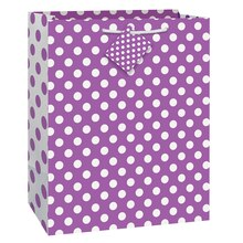 Purple Polka Dot Gift Bag