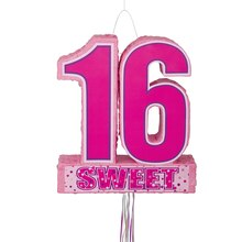 Sweet 16 Birthday Pinata, Pull String
