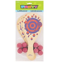Paddle Ball Game Party Favors, 8ct