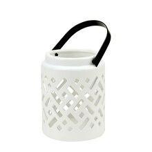 Seaside Treasures Ceramic Criss Cross Cutwork Candle Holder Lantern