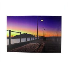 LED Lighted Sunset Boardwalk Wall Art